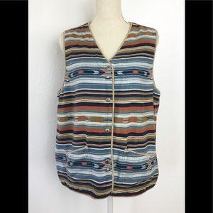 Vintage Jones New York  Southwestern Aztec Vest